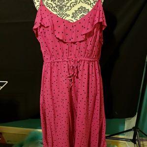 Torrid pink heart dress